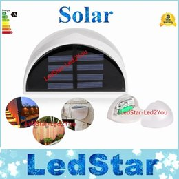 Wholesale Solar Lights Outdoor Gutter - Led Solar Light Outdoor Waterproof Garden Decoration Landscape Lawn Solar Power Panel 6 LED Fence Gutter Wall Solar Power Lamps