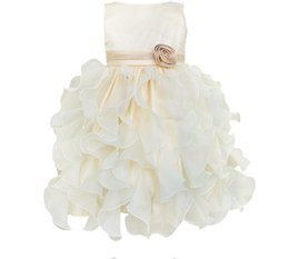 Wholesale Princess Vogue - Cute girl beauty dress vogue of new of high quality PROM dresses flower children's wear delicate little girl first holy communion dress