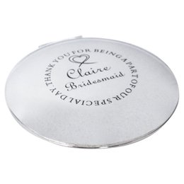 espelho vintage personalizado gravado compacto bolsa espelho dama de honra do casamento obrigado presente de