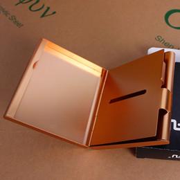 Wholesale Metal Case Aluminium Gift Box - Fashion aluminium Alloy 20 Cigarettes box holder metal cigarette case Storage Case Box Tobacco Container Holder smoking gift