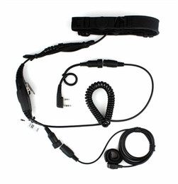 Wholesale Kenwood Pin - 2 Pin PTT VOX Adjustable Volume Throat OR Forehead MIC for KENWOOD Radios PUXING WOUXUN HYT TYT BAOFENG UV5R 888S New Black