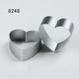 Wholesale Mini Heart Cutter - Wholesale- New Mini heart shape aluminium alloy Cookies Fruit vegetable toast cutter cookie mold pudding mold FREE SHIPPING