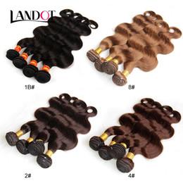 Péruvienne Malaisienne Indienne Brésilienne Vague de Corps de Cheveux Humains Weave Bundles Couleur Naturelle Foncé Sombre / Moyen / Cheveux Bruns Extensions de Couleur 1B / 2/4/8 # ? partir de fabricateur