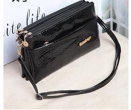 Wholesale Brown Glitter Purses - Oblique cross package Famous Women handbags bags for women handbag Black crocodile grain small bag purses handbags fashion ladies handbags