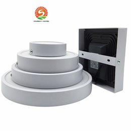 Wholesale Downlight 22w - New Integrated LED Panel Light 8W 16W 22W 30W Surface Mounted Round Square Panel LED lamp AC85-265V LED Downlight Ceiling lights