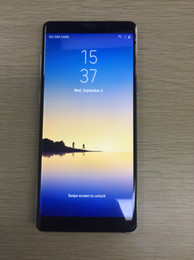 Wholesale Single Sim Card Smartphones - goophone note 8 Octa Core MTK6592 shown 4G LTE 6.2inch Android 7.0 Smartphones 128GB ROM Cell phone