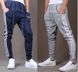 Wholesale Cross Patterned Fleece - 2016 New fashion men's Baggy Sweatpants Hiphop sports pants men's casual pants harem pants Hip Hop Dance Sporty Trousers