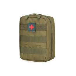 Wholesale Medical Sports - tactical medical emergency package tactical pockets Camouflage outdoor sports pockets waterproof waistpacks ourdoor bags send red mark