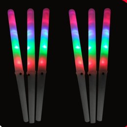 Wholesale Glow Stick Products - LED multicolor glow stick for cotton candy christmas product LED Party Flashing Rainbow Stick Floss LED party lights 200pcs
