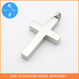 Wholesale Cremation Jewelry Necklace Cross - 2016 Hot Selling Stainless Steel Cross Urn Cremation Necklace Pendant of Fashion jewelry