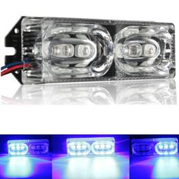 2019 12v led strobe lights moto 12V 6 diodo emissor de luz da emergência do estroboscópio da parada da cauda do freio da motocicleta do diodo emissor de luz desconto 12v led strobe lights moto