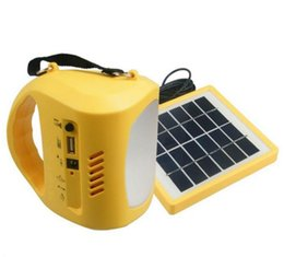Wholesale Solar Charger Radio Led - The latest high quality LED solar flashlight camp lamp with FM radio and mobile phone charger for free shipping JSY710