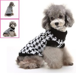 Wholesale Dog Clothes Size Medium - Pet Fashion Series MYD07 07A Dog Clothes Sweater floral autumn and winter 5 sizes 2 colors