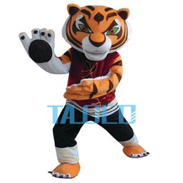 Wholesale Tiger Costumes Free Shipping - 2016 HOT Kung fu tiger Mascot Adult Costume Mascot costumes sale free shipping