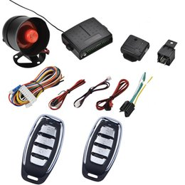Wholesale Control Car Engine - Universal Car Alarm System Auto Central Locking Security Remote System Keyless Entry Remote Control PKE Car Engine Start Stop