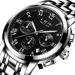 Wholesale Gold Tungsten Alloy - Mens Watches Luxury Top Brand Wristwatch Chronograph For Large Male Watch Patterned Waterproof Wristwatches High Quality Quartz Watch