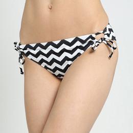 Wholesale New Bikini Bottom Styles - Wholesale-Brazilian Bikini Bottoms 2016 Brand New Summer Style Womens Lady Sexy Wave Stripe Printed Beach Bikini Panties NXH1183