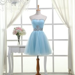 Wholesale Sister Bridal Dress - 2016 Fashion Sisters Dress short party dress Tube Top Short design Lace Up bridal gown bridesmaid dress