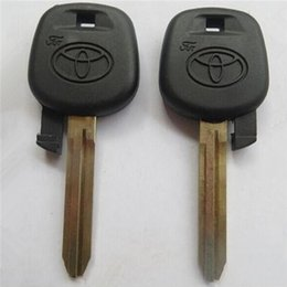 Wholesale Toyota Blank Key Chip - 10pcs lot for Toyota Camry blank transponder key shell (can install chip) S107