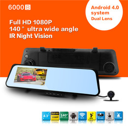 "Wholesale Rearview Cameras - Newest Android 4.0 system Car Rearview Mirror 1080P 30fps Touch screen 4.3"" LCD car rearview camera"