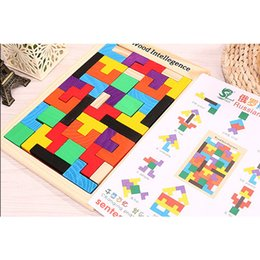 Wholesale Block Jigsaw Puzzles - Wooden Russian Tetris Puzzle Jigsaw Intellectual Building Block and Training Toy for Early Education Children wood intellegence Toys