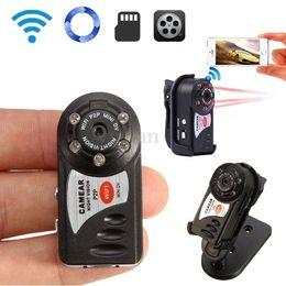 Wholesale Mini Usb Wireless Video Camera - New Hot Protable Mini WiFi IP Camera DV Q7 Wireless Webcam DVR Video Camcorder USB Cable