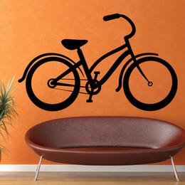 Wholesale Cheapest Home Decor - Cheapest Wholesale Vinyl Removable Black Wall Sticker Bike Classic Self Adhesive Living Room Home Decor