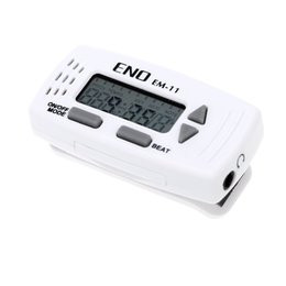 Wholesale Eno Guitar - ENO 2-in-1 Mini Clip-on Guitar Metronome Multifunction Electronic Metronome Clock Guitar Parts & Accessories