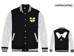 Wholesale Men S Clothing Discounts - 2017 new Wu tang baseball jackets for men fashion hip-hop mens coats free shipping new discount Wu tang clothing hip hop jackets