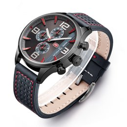 Wholesale Cheap Glass Displays - Cheap Men's Business Quartz Watches Luxury Wristwatches Display Calendar Sport Outdoor Wrist Watches for Men and Students