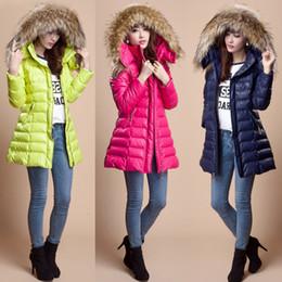 casacos de inverno Desconto Inverno Mulheres Down Jackets Coats Mulheres de alta qualidade Warm Fur-Trim Hooded Parka Coat Senhoras Slim Long Thick Warm Overcoat MGG1108