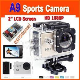 Caméscope de plongée en Ligne-Cheappest Mini 2-pouces écran LCD étanche Caméra d'action de la vidéo A9 120 degrés Objectif HD 1080p Casque Sport DV Digital Camcorder Gopro TNT POST