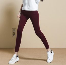 Wholesale Thicker Leggings - Fall Winter 2017 Sexy Women Plus Thicker Pencil Pants Leggings Fur LongThick Warm Fleece lined Cotton Winter Tights