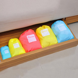 Wholesale Bra 4pcs - Home Closet Divider Outdoor Travel Clothes Tidy Socks Shoes Bra Towels Suitcase Container Organizer Storage Pouch Bag 4pcs Set 2503069