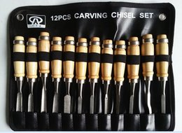 Wholesale Wood Chisels Set - 12Pcs Professional Wood Carving Hand Chisel Tool Set For Carpenter Woodwork Hobby