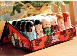 Wholesale Doll Lips Gloss - Lip Balm Cute Japanese doll lip balm moisturizing Pure natural plant Comfortable Fresh Fruit Favor Lipstick Lipsticks Lip Gloss 24pcs lot