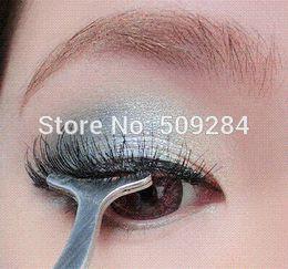 Wholesale Eyelash Eye Lashes Clip Curler - False Eyelashes Curling Curler Furl Fake Eye lash Auxiliary Clip Multifunctional Stainless Cosmetics Beauty Tweezers Tool