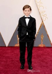 Wholesale Handsome Boys Photos - 2016 Oscar Jacob Tremblay Handsome Boys Suits Custom Made Custom Made One Button Boy's Tuxedos Notch Lapel Children Suits Boy's formal Wear