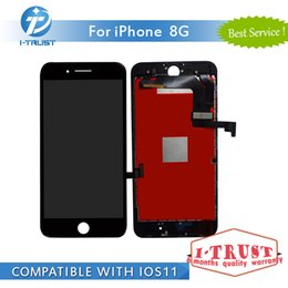 Wholesale Iphone White Parts - 100%Tested LCD For iPhone 8 Color Display Touch Screen Digitzer Black White LCD Good Repair Replacement Part+ Free DHL Shipping
