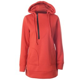 Wholesale United Fiber - Europe and the United States foreign trade women's fleece qiu dong splicing zipper hooded rope sets pure color long sleeve blouse