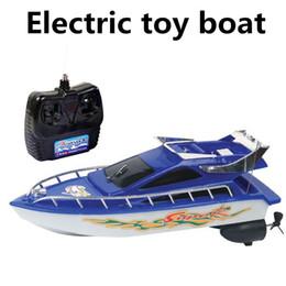 Wholesale Remote Control Sailing - Wholesale-Electric toy boats, remote control boats,4 channel remote control boat, sailing simulation model, free shipping