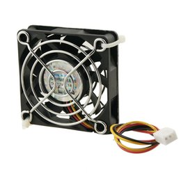 Wholesale Pin Finger - Wholesale- CAA Hot 60mm x 60mm x 15mm 3 Pins Cooling Fan w Metal Finger Guards