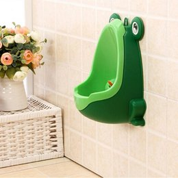 Wholesale Cartoon Baby Boys - Wall-Mounted Toilet Baby Boy Potty Toilet Training Frog Children Stand Vertical Urinal Boys Penico Pee Infant Toddler +NB