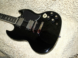 Wholesale Electric Guitars Angus - Custom Angus Young AC DC Limited Edition Ebony Electric Guitar Rare guitars from china