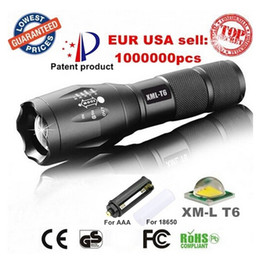 Wholesale Led Cree Zoomable Rechargeable - LED Flashlight High power Cree XM-L T6 G700 E17 3800LM Aluminum Waterproof Zoomable LED Torches light for 18650 Rechargeable or AAA Battery