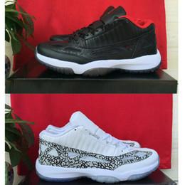 Wholesale Dan Black - 2016 New dan 11 Bred Mens & Womens Cobalt Sneakers IE Basketball Sports shoes original for sale dan bred 11s retro, dan 11s Bred