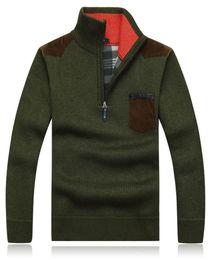 homens crochet pullover Desconto Atacado-Men Pullover Camisola De Algodão Pullovers Designer Mens Blusas De Crochê Padrões Camisolas Dos Homens Frete Grátis Camisola Dos Homens