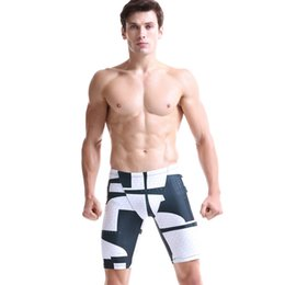 Wholesale Swimming Trunks Pants For Men - Wholesale-Summer 3D Prints Men's Beach Shorts Multi-functional Swim Wear for Men Compression Tight Swimming Trunks Elastic Short Pants