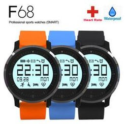 Wholesale Healthy Watches - Original Smart Watch F68 Sports Watch Fitness Heart rate Tracker Smart Healthy Watch reloj inteligente for android IOS8 Smartwatch DHL Free
