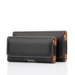 Wholesale Iphone Phone Belt Clips - Waist Hang Phone Bag PU Leather Pouch Holster Belt Clip Cover For iphone 4.7inch-5.1inch Samsung galaxy J1 J2 J3 A3 2016 2017 Pocket Black